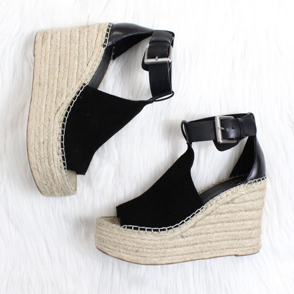 1739a23b41f MARC FISHER Annie Perforated Espadrille Wedge